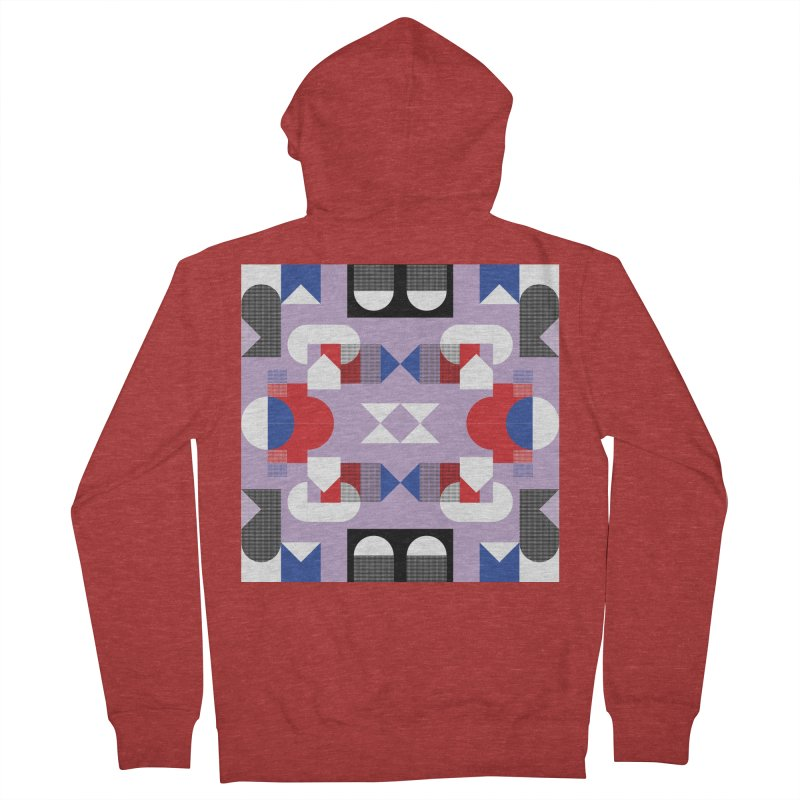 Kaleidoscope Design Series 1, Poster 18 Men's French Terry Zip-Up Hoody by Madeleine Hettich Design & Illustration