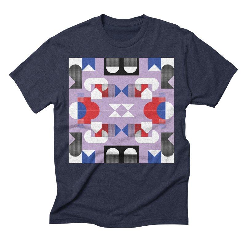 Kaleidoscope Design Series 1, Poster 18 Men's Triblend T-Shirt by Madeleine Hettich Design & Illustration