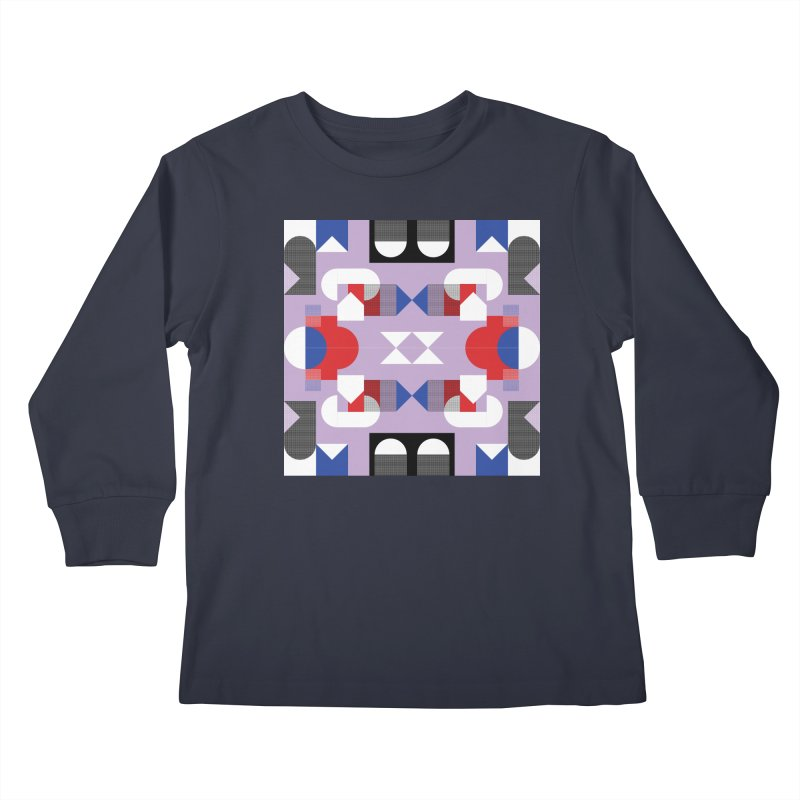 Kaleidoscope Design Series 1, Poster 18 Kids Longsleeve T-Shirt by Madeleine Hettich Design & Illustration