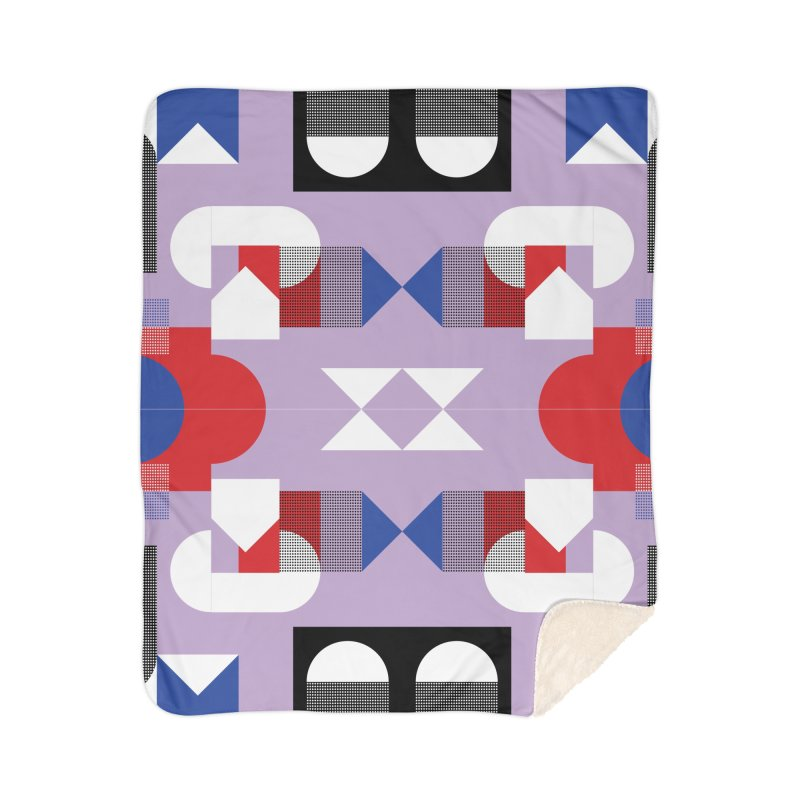 Kaleidoscope Design Series 1, Poster 18 Home Sherpa Blanket Blanket by Madeleine Hettich Design & Illustration