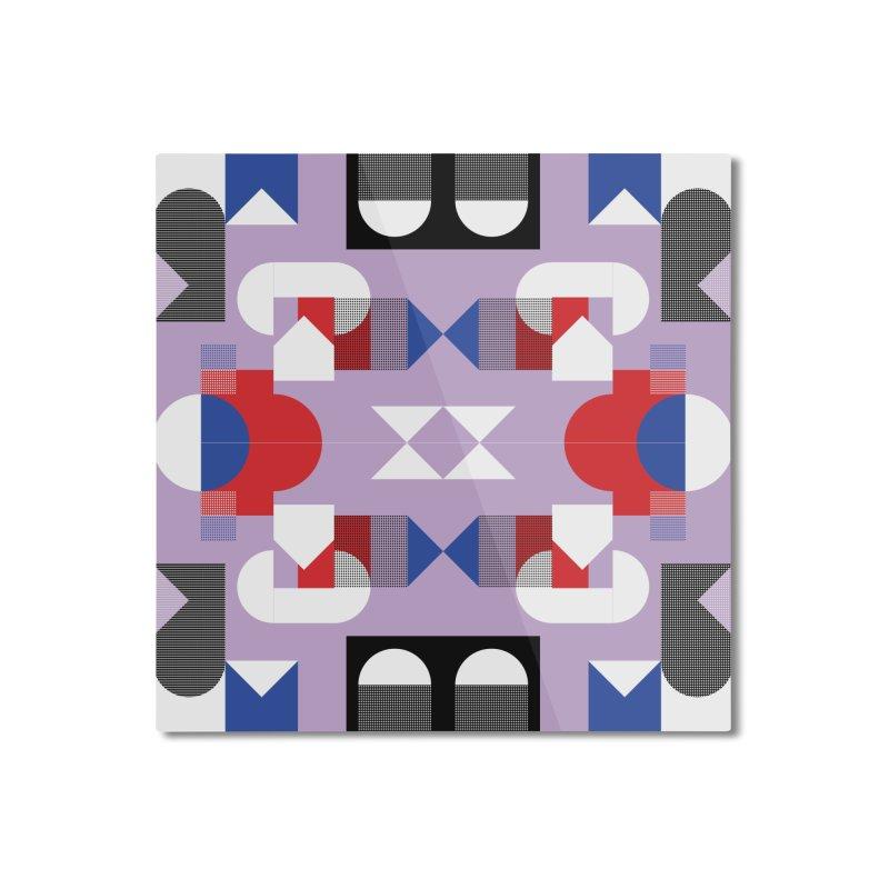 Kaleidoscope Design Series 1, Poster 18 Home Mounted Aluminum Print by Madeleine Hettich Design & Illustration