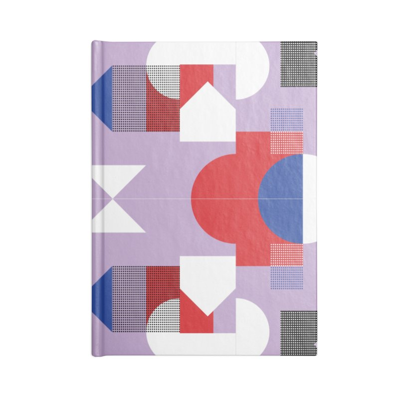 Kaleidoscope Design Series 1, Poster 18 Accessories Lined Journal Notebook by Madeleine Hettich Design & Illustration