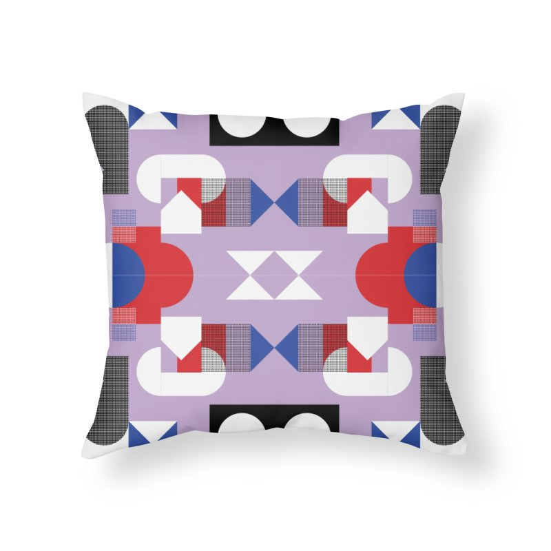 Kaleidoscope Design Series 1, Poster 18 Home Throw Pillow by Madeleine Hettich Design & Illustration