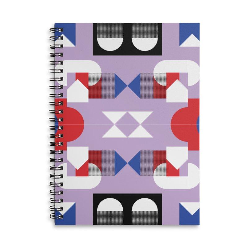 Kaleidoscope Design Series 1, Poster 18 Accessories Lined Spiral Notebook by Madeleine Hettich Design & Illustration