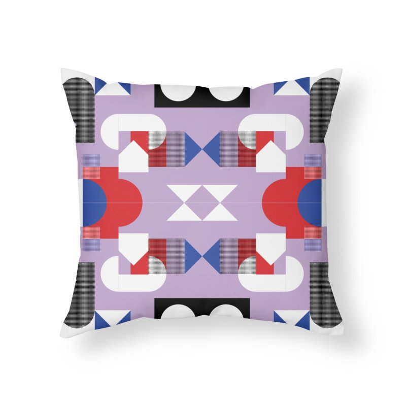 Kaleidoscope Design Series 1, Poster 18 Home Throw Pillow by Madeleine Hettich Design & Illustration