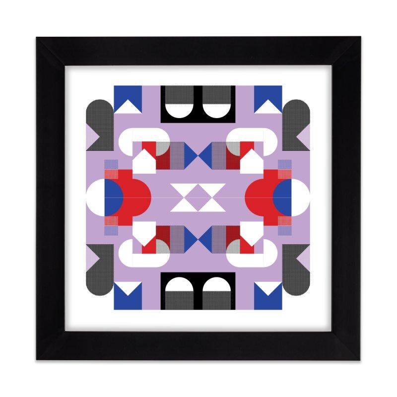 Kaleidoscope Design Series 1, Poster 18 Home Framed Fine Art Print by Madeleine Hettich Design & Illustration