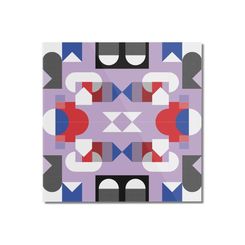 Kaleidoscope Design Series 1, Poster 18 Home Mounted Acrylic Print by Madeleine Hettich Design & Illustration