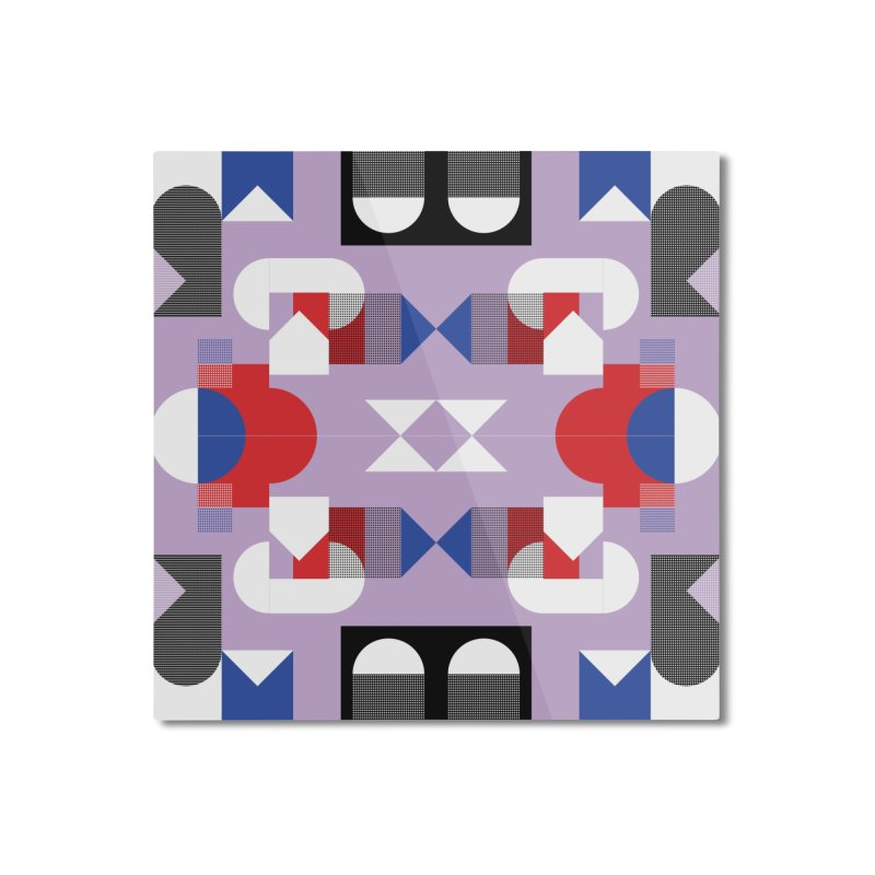 Kaleidoscope Design Series 1, Poster 18 Home Mounted Aluminum Print by Madeleine Hettich Design & Illustration