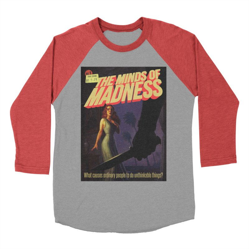 Choose items with -The Barney Art Men's Baseball Triblend Longsleeve T-Shirt by The Minds Of Madness Podcast