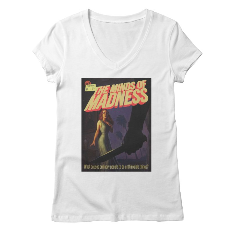 Choose items with -The Barney Art Women's Regular V-Neck by The Minds Of Madness Podcast