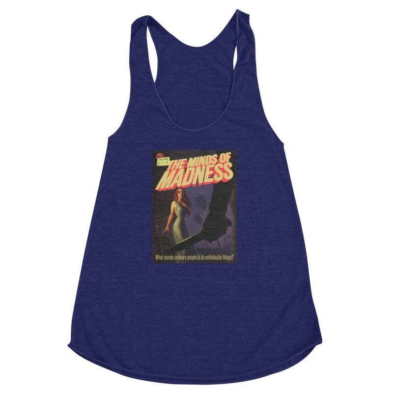 Choose items with -The Barney Art Women's Racerback Triblend Tank by The Minds Of Madness Podcast