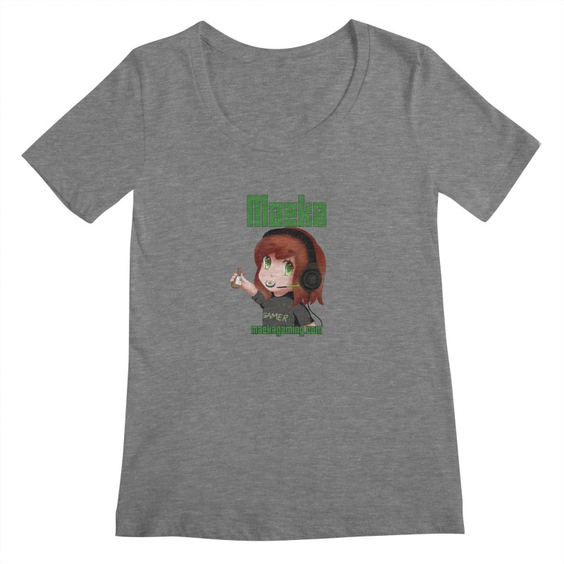 Maeka | maekagaming.com Women's Scoopneck by Maeka's Artist Shop