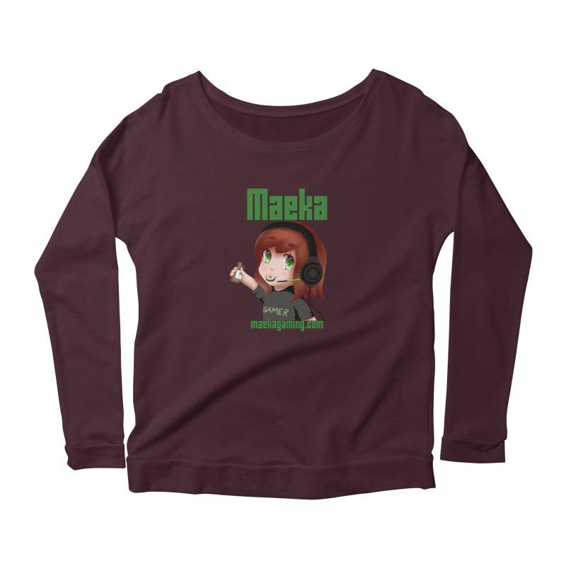 Maeka | maekagaming.com Women's Longsleeve Scoopneck  by Maeka's Artist Shop
