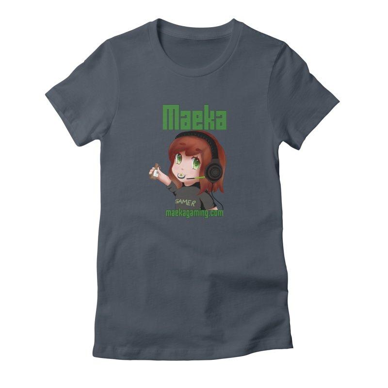 Maeka   maekagaming.com Women's Fitted T-Shirt by Maeka's Artist Shop