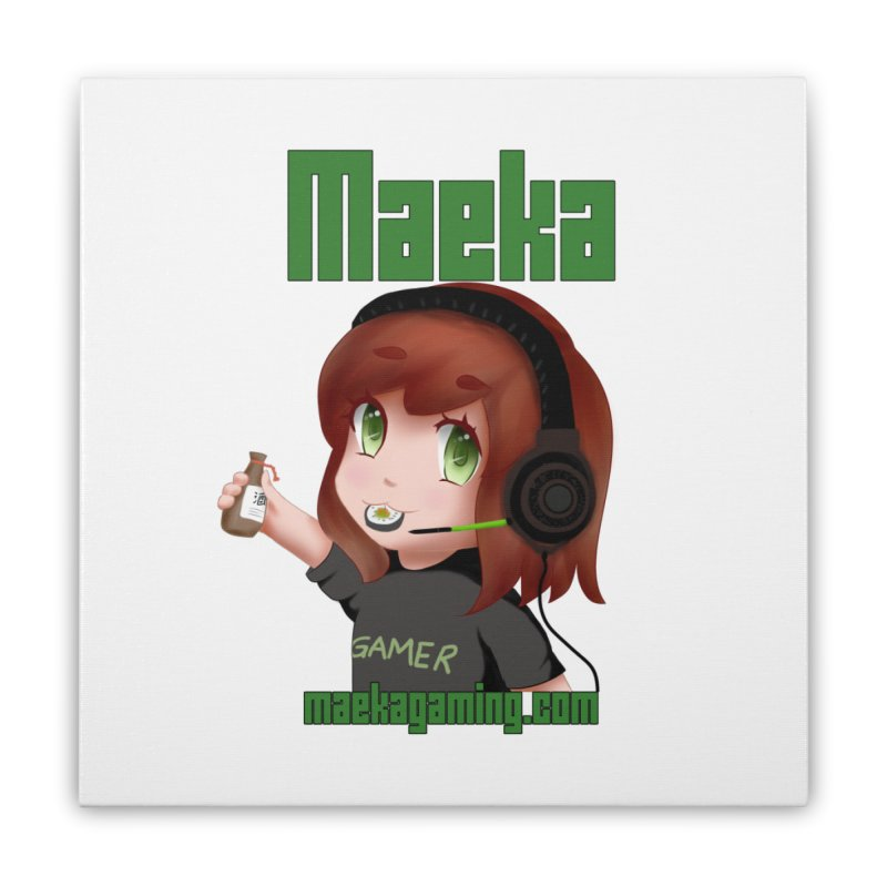 Maeka | maekagaming.com Home Stretched Canvas by Maeka's Artist Shop