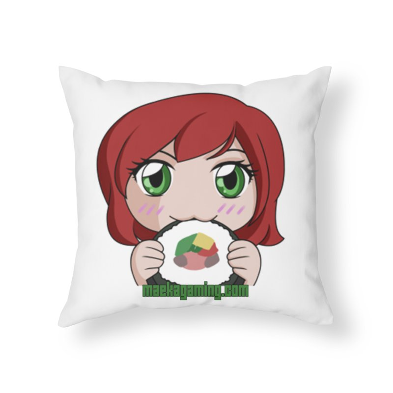 Maeka | maekagaming.com Home Throw Pillow by Maeka's Artist Shop