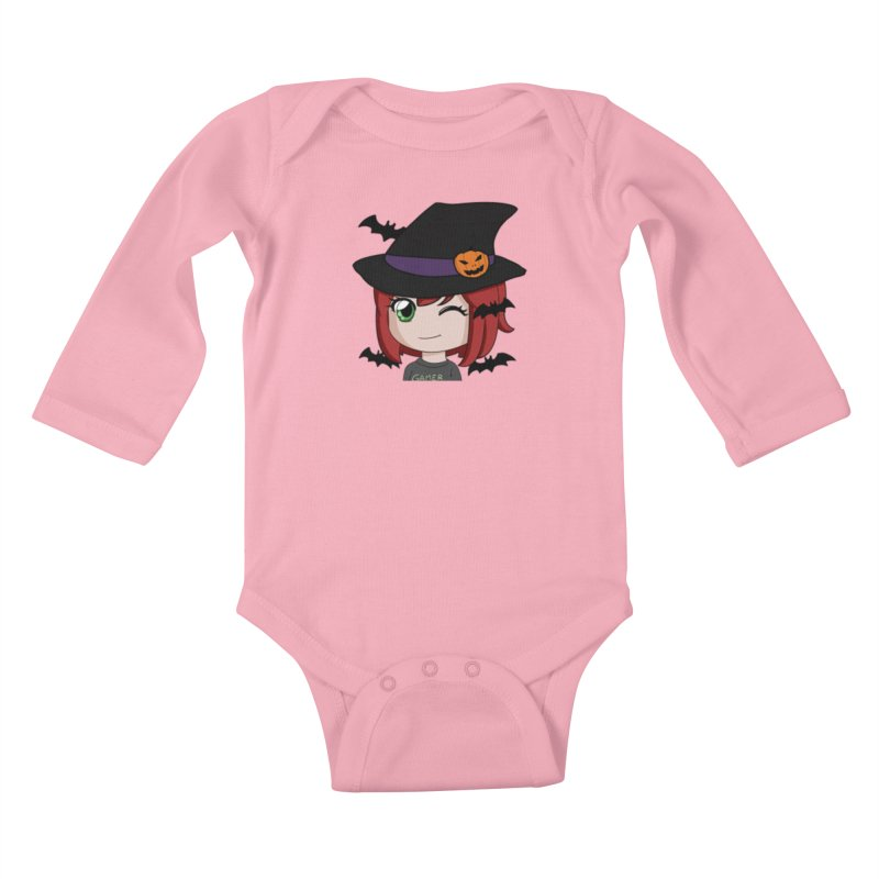 Witchy Maeka Kids Baby Longsleeve Bodysuit by Maeka's Artist Shop