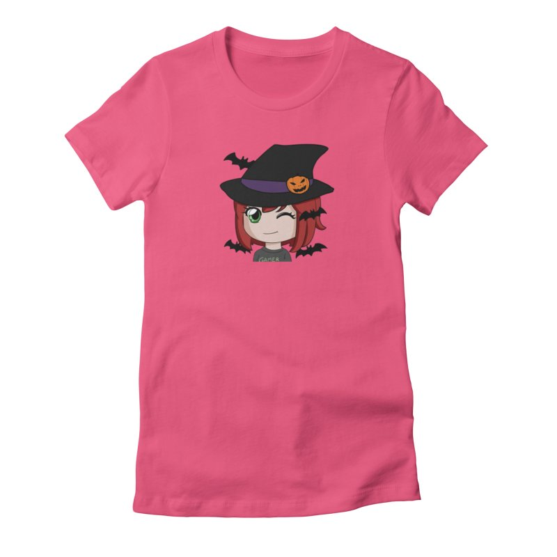 Witchy Maeka Women's Fitted T-Shirt by Maeka's Artist Shop