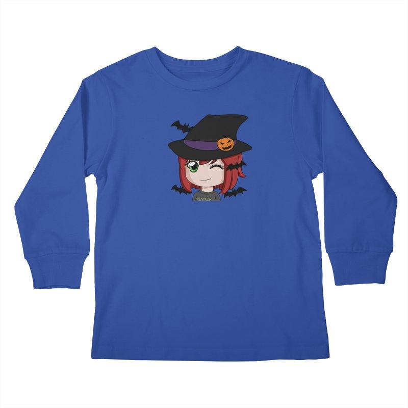 Witchy Maeka Kids Longsleeve T-Shirt by Maeka's Artist Shop