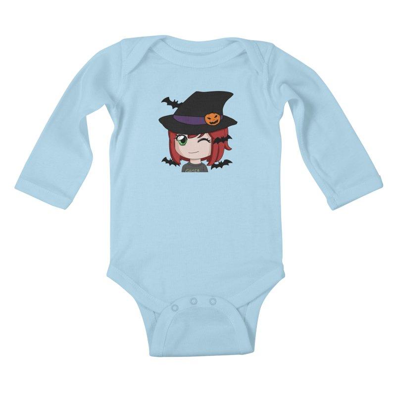 Witchy Maeka Kids Baby Longsleeve Bodysuit by Maeka's Artist Shop