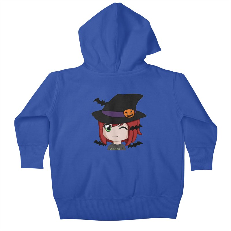 Witchy Maeka Kids Baby Zip-Up Hoody by Maeka's Artist Shop