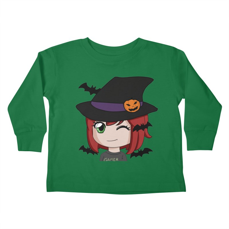 Witchy Maeka Kids Toddler Longsleeve T-Shirt by Maeka's Artist Shop