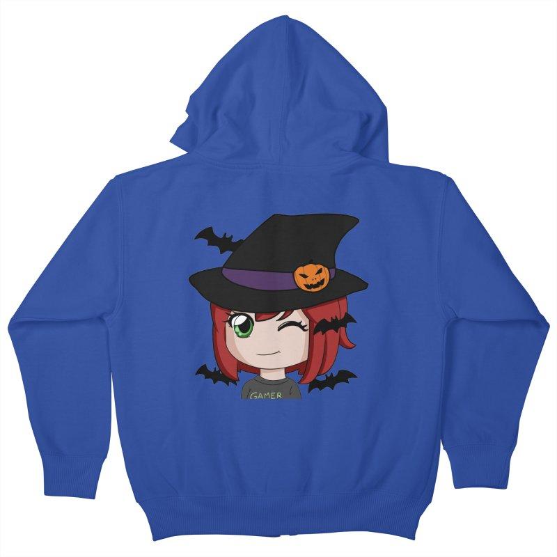 Witchy Maeka Kids Zip-Up Hoody by Maeka's Artist Shop