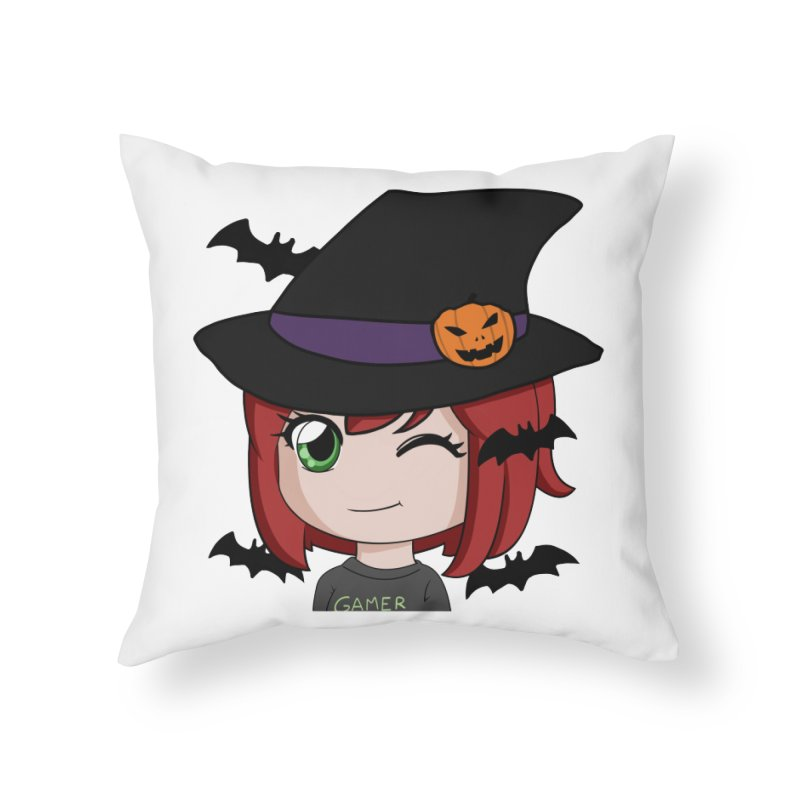 Witchy Maeka Home Throw Pillow by Maeka's Artist Shop