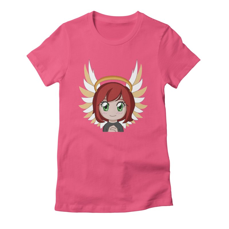 Angel Maeka Women's Fitted T-Shirt by Maeka's Artist Shop