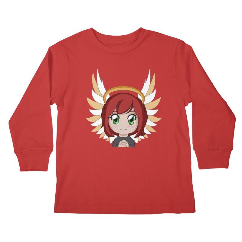 Angel Maeka Kids Longsleeve T-Shirt by Maeka's Artist Shop