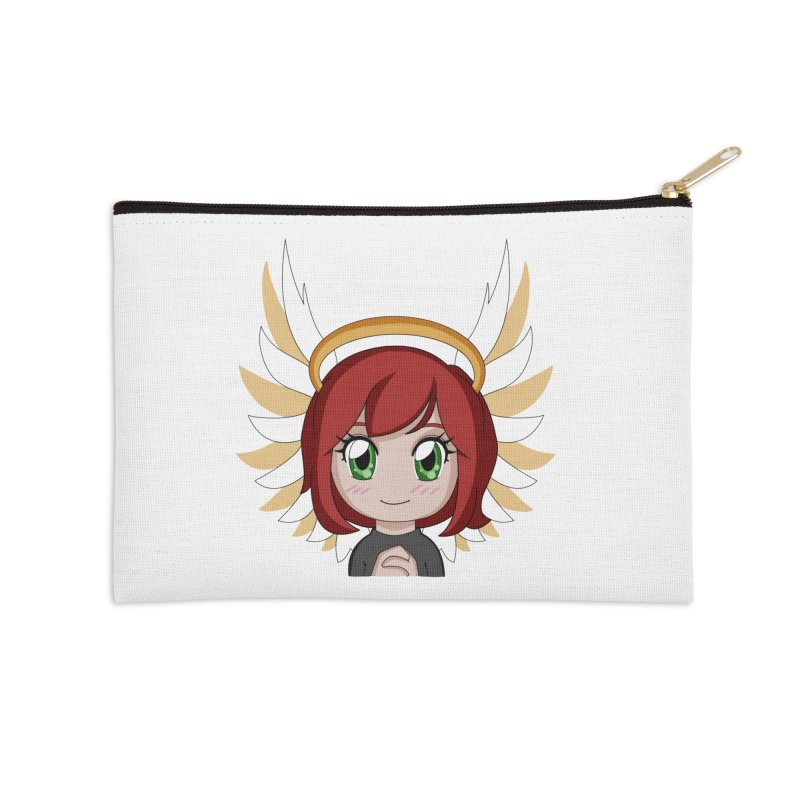 Angel Maeka Accessories Zip Pouch by Maeka's Artist Shop