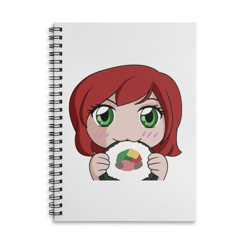 Maeka Accessories Lined Spiral Notebook by Maeka's Artist Shop