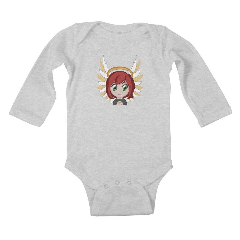 Angel Maeka Kids Baby Longsleeve Bodysuit by Maeka's Artist Shop