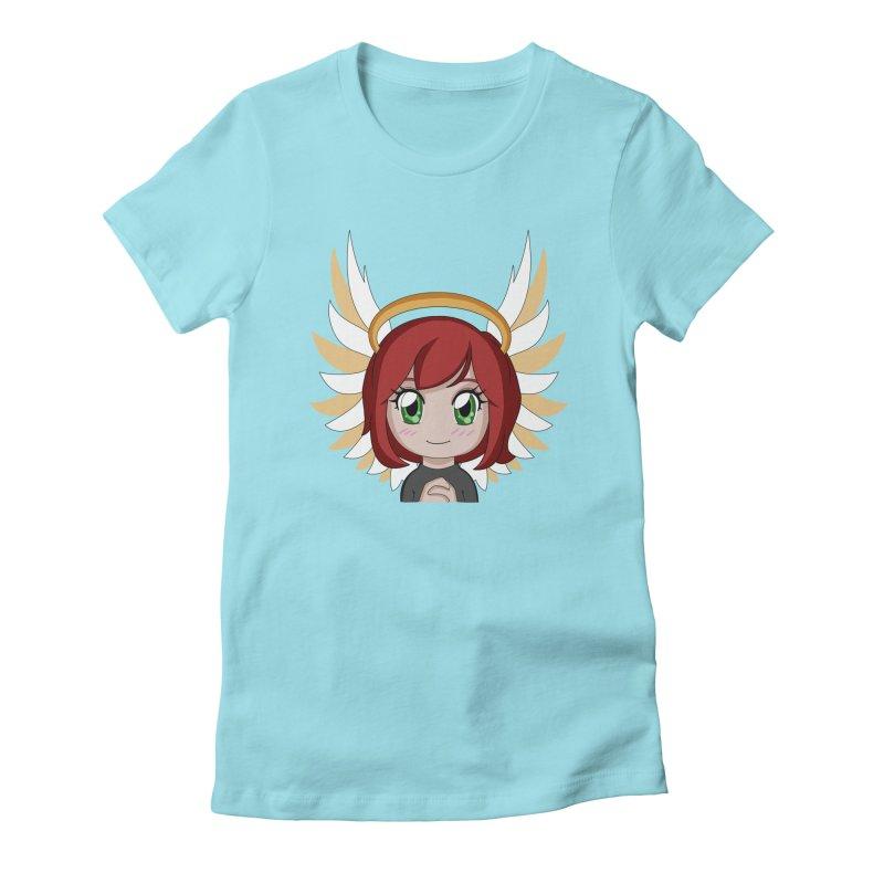 Angel Maeka Women's Fitted T-Shirt by Maeka's Artist Shop