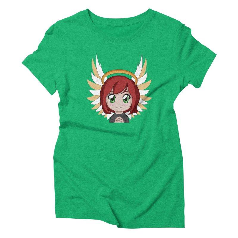 Angel Maeka Women's Triblend T-Shirt by Maeka's Artist Shop