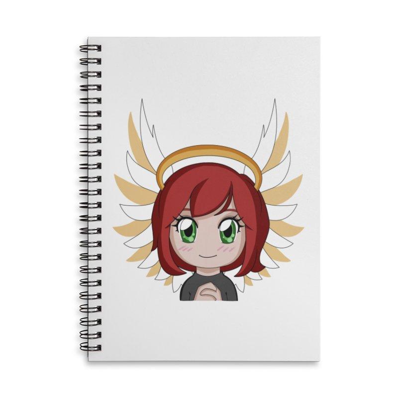 Angel Maeka Accessories Lined Spiral Notebook by Maeka's Artist Shop