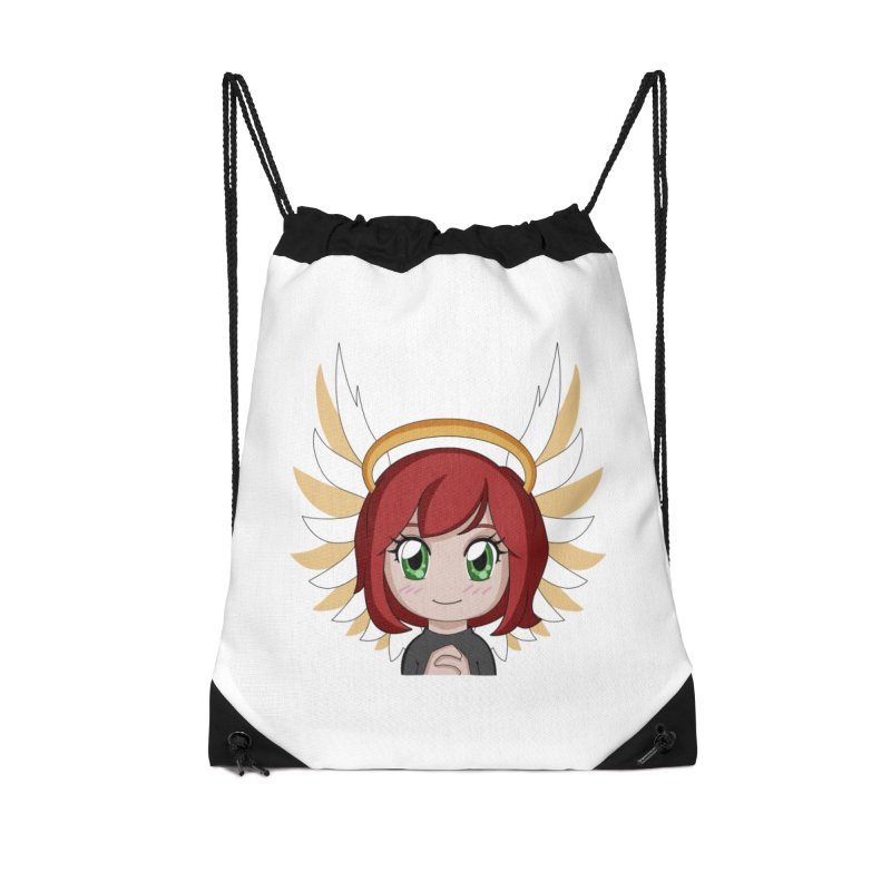 Angel Maeka Accessories Drawstring Bag Bag by Maeka's Artist Shop