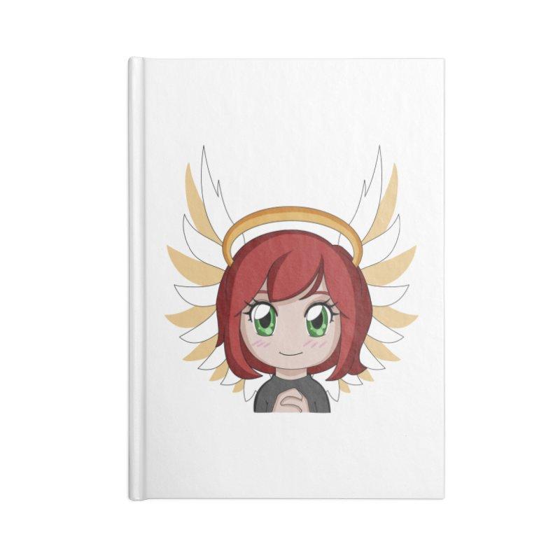 Angel Maeka Accessories Lined Journal Notebook by Maeka's Artist Shop