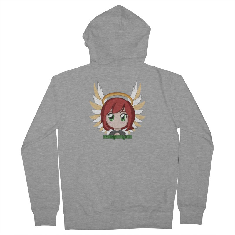 Angel Maeka Women's French Terry Zip-Up Hoody by Maeka's Artist Shop