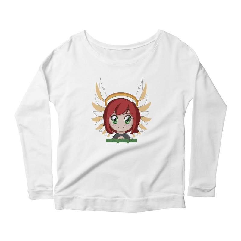 Angel Maeka Women's Scoop Neck Longsleeve T-Shirt by Maeka's Artist Shop