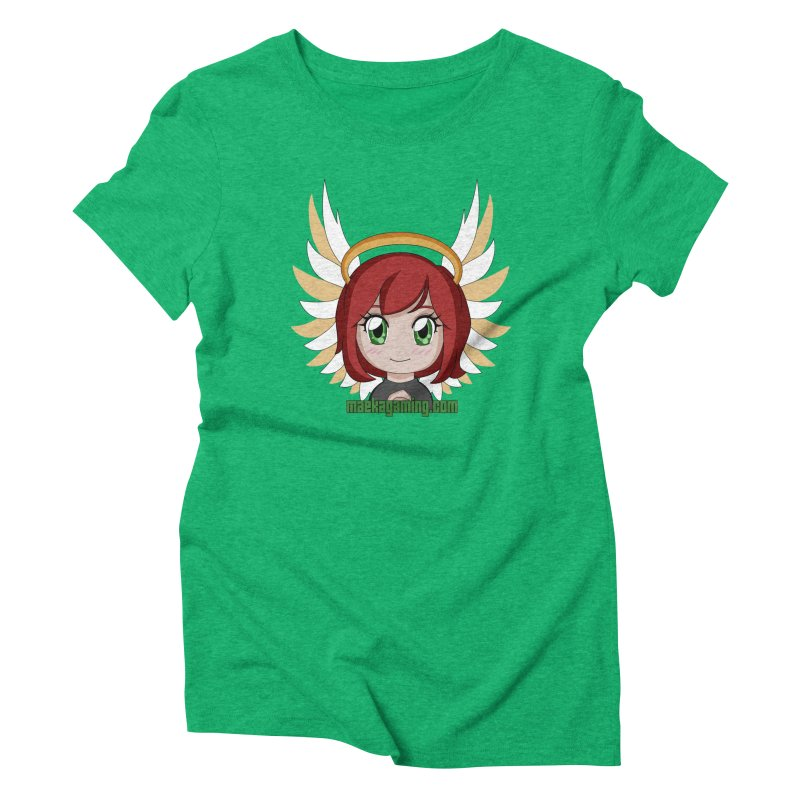 Angel Maeka Women's Triblend T-Shirt by Maeka's Artist Shop