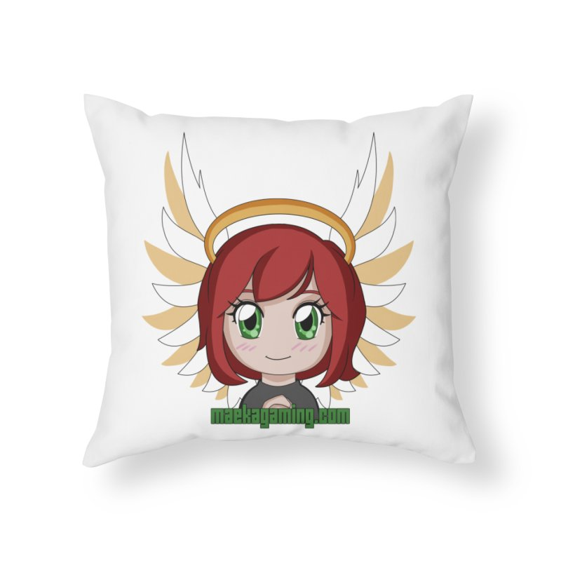 Angel Maeka Home Throw Pillow by Maeka's Artist Shop