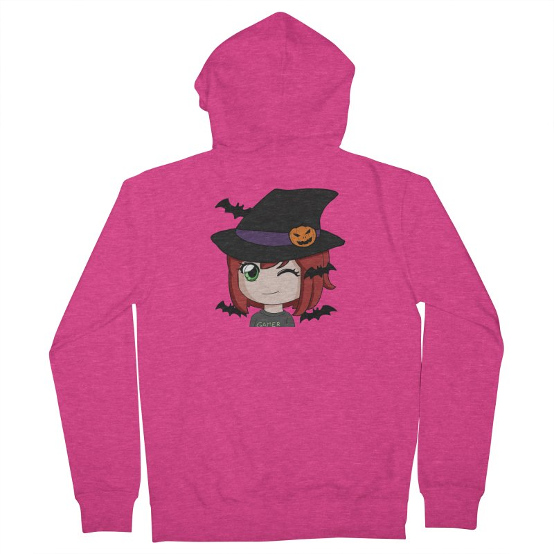Witchy Maeka Women's French Terry Zip-Up Hoody by Maeka's Artist Shop