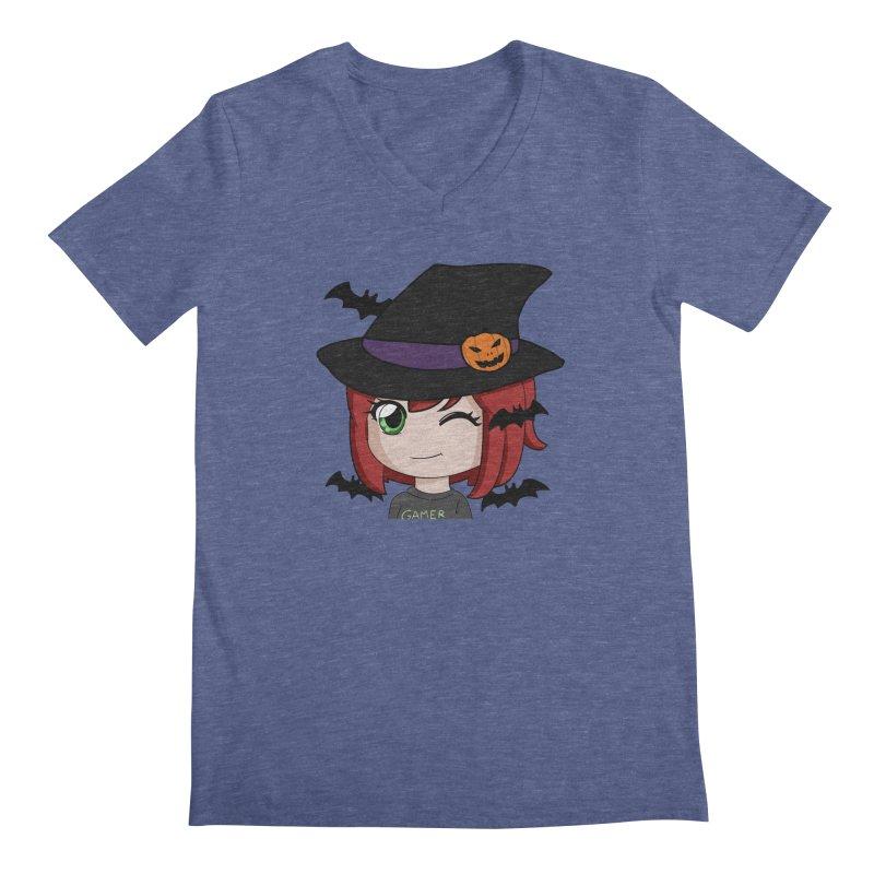 Witchy Maeka Men's Regular V-Neck by Maeka's Artist Shop