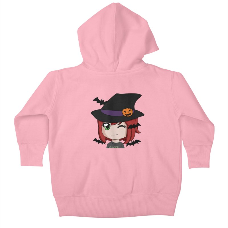 Witchy Maeka Kids Baby Zip-Up Hoody by Maeka's Artist Shop