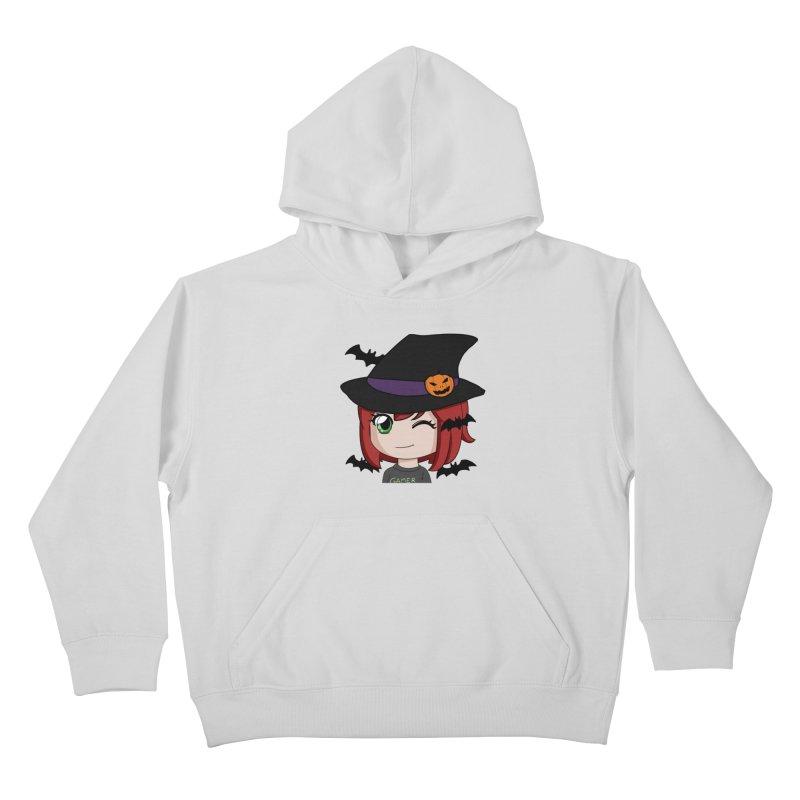 Witchy Maeka Kids Pullover Hoody by Maeka's Artist Shop