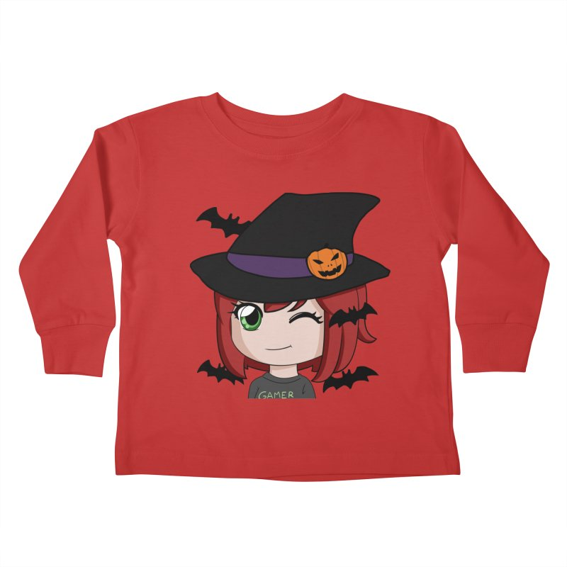 Witchy Maeka Kids Toddler Longsleeve T-Shirt by Maeka's Artist Shop