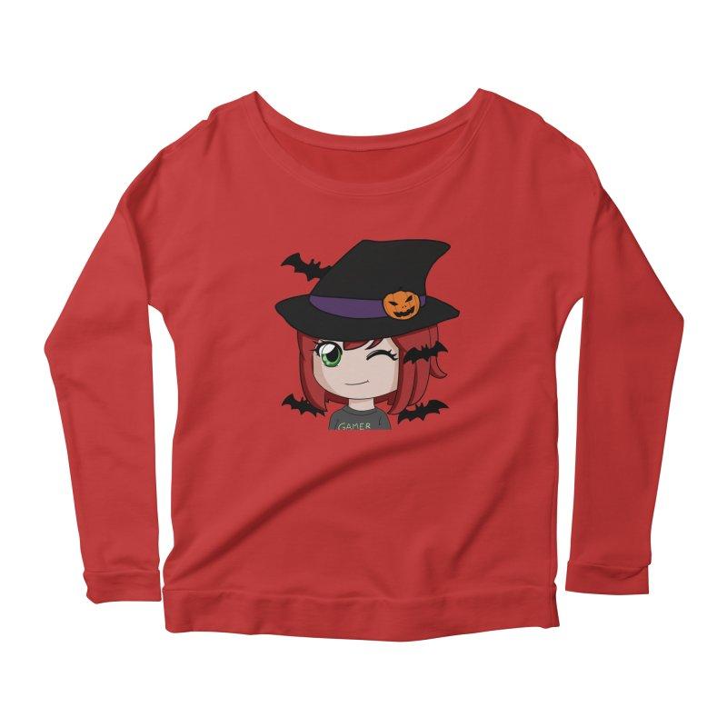 Witchy Maeka Women's Scoop Neck Longsleeve T-Shirt by Maeka's Artist Shop