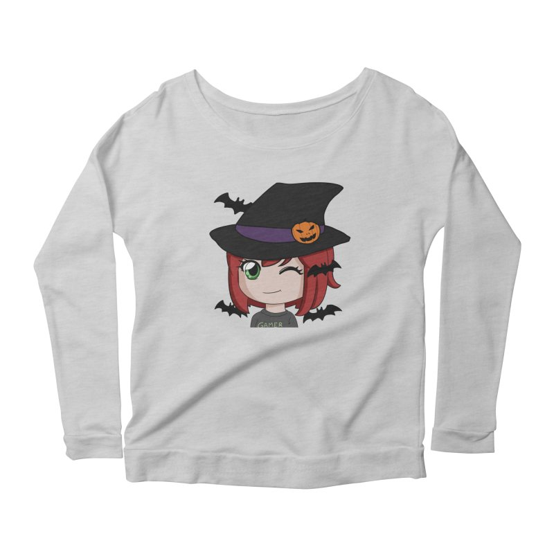 Witchy Maeka Women's Scoop Neck Longsleeve T-Shirt by Maeka's Artist Shop