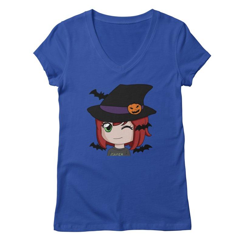 Witchy Maeka Women's Regular V-Neck by Maeka's Artist Shop